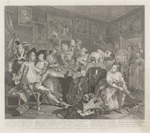 A Rake's Progress (plate 3) 1735 William Hogarth 1697-1764 Transferred from the reference collection 1973 http://www.tate.org.uk/art/work/T01790