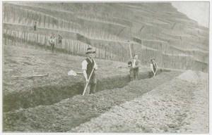 Digging foundation 1-1.2 meters deep.