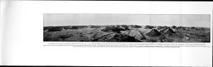 Panoramic View Taken in Southern Portion of Niya Site. (Vineyard in back right). From On Ancient Central-Asian Tracks: Volume 1.