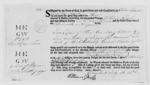John Searle & Company, July 16, 1783, Bill of Lading. [2]