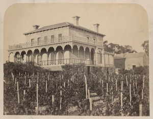 """Double-storey bluestone residence with return verandah"" 1860s [1]"