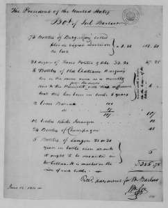 Joel Barlow to James Madison, June 12, 1811. Account. Library of Congress.