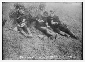 French Officers at luncheon in the field. 1914-1915. [1]