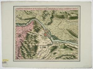 Umgebungskarte von Wien, 1:150 000, Radierung, um 1685. [1]