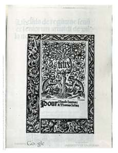 Arnaldus, d. Villanova. (1500). Incipit Tractatus de vinis. [Parisiis: Felix Baligault pour Claude Jaumar & Thomas Julian.