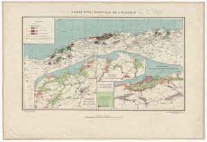 Gouvernement général de l'Algérie, Direction de l'Agriculture, du Commerce et de la Colonisation. Service cartographique. Carte viti-vinicole de l'Algérie / gravée par A. Simon