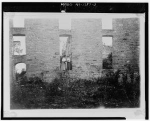 DETAIL, RUINS. ca. 1895.