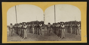 Soldiers from the 134th Illinois Volunteer Infantry. 1864.