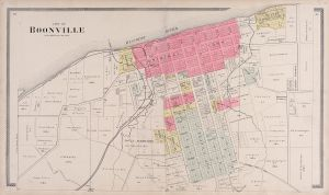 City of Boonville. Image from Illustrated historical atlas of Cooper County, Missouri. 1897. [0]