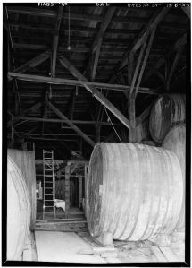 Interior of vat, Fountain Grove Winery. [1]