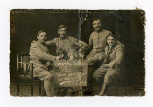 """""""Souvenir du Palatinat. Les quatre as du pinard en vadrouille"""". 1919. [1]"""