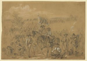 [The 1st Virginia Cavalry at a halt]. September 1862. Waud, Alfred R. Library of Congress.