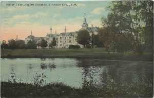 Willow Lake Asylum Grounds, Northern Michigan Asylum. c. 1906. Image from upnorthmemories (flickr).