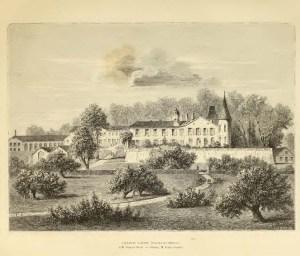 Chateau Lafite.  Image from  . Les Richesses Gastronomiques de la France, Les Vins de Bordeaux.  [4]