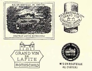 Chateau Lafite marks. Image from Clarets and Sauternes. [8]