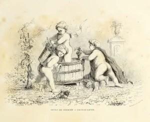 Dessus de Cheminee a Chateau Lafite.  Image from  . Les Richesses Gastronomiques de la France, Les Vins de Bordeaux.  [4]