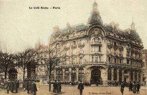 Le Cafe Riche. c. 1890. Image from Wikimedia.