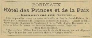 Hotel des Princes et de la Paix. Image from Paris: nouveau guide de l'étranger et du Parisien. [11]