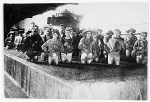 Pressing grapes in Mexico. 1914-1918. [1]