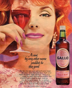 Gallo, Grenache Rose. 1960.  Image from it's better than bad. Flickr.