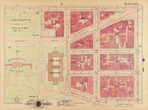 Map #23 from Baist's real estate atlas of surveys of Washington, District of Columbia. 1913. Library of Congress.