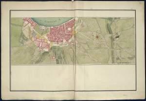 """Portion de route au départ de """"Bordeaux"""", jusqu'à Becquet (""""La-chappelle-du-Becquet"""") et le village de Villenave-d'Ornon (""""Pillanne"""").  Atlas de Troudaine. [1]"""