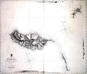 The Islands of Madeira Porto Santo and Dezertas. Surveyed by Captain ATE Vidal RN in HMS Styx 1843. 1847. Copyright National Maritime Museum, London