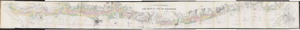 Plan des Vignobles produisant Les Grands Vins de Bourgogne. 1861. [1]