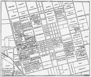 Plat Map of Anaheim, California [graphic]. 1880s (?). Anaheim Public Library. [1]