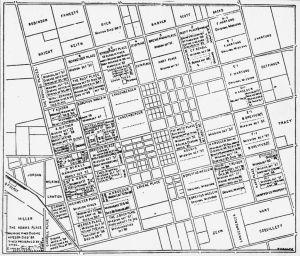 Plat Map of Anaheim, California [graphic]. 1880s (?). Anaheim Public Library. [1]