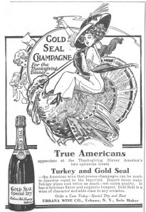 Gold Seal Champagne For the Thanksgiving Dinner. 1912. [1]