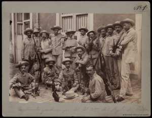 Escribientes y ordenanzas del 2º Batallón del Regimiento de Cuba. Biblioteca Digital Hispanica. [1]