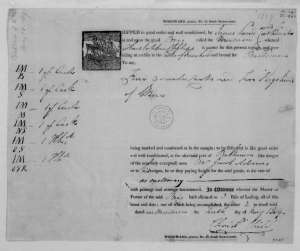 Bill of lading detailing a quarter-cask of Malmsey for James Madison. Christopher Child, May 10, 1809. Bill of Lading, Wine Shipment. The James Madison Papers. Library of Congress.