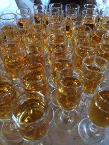 Glasses of Mr. Madison's Madeira.