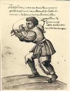 Esclavo Negro con Bota de Vino es Castilla. Image from Das Trachtenbuch. (1529) [2]