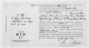 Bill of lading for James Madison's 1807 shipment from Murdoch, Yuille, Wardrop, & co. [55].