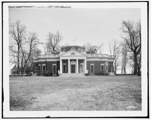 Monticello, home of Thomas Jefferson, Charlottesville, Va. c 1900-1906. Library of Congress.