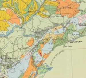Crop from Mapas de suelos de España.  Ins. Nac. De edafologia y agrobiologia C.S.I.C. 1966. [1]