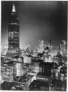 Empire State Building at night. c.1937. [0]
