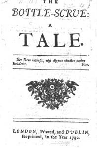 Title page from Nicholas Amhurst's The Bottle-Scrue: a Tale. 1732.