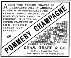 Advertisement for Pommery Champagne. 1899. [1]