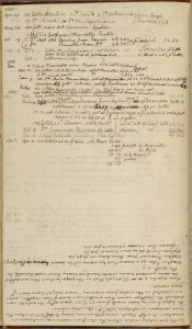 """Wine provided at Washington"" page 2, from Thomas Jefferson account book, 1791-1803.  Held at the NYPL Digital Collections."
