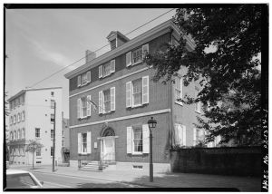 Hill-Physick House which was originally owned by Madeira merchant Henry Hill. Image from HABS at the Library of Congress Prints and Photographs Division.