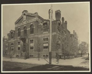 Library Company of Philadelphia, Locust Street, Philadelphia, Pennsylvania. Furness, Frank. Between 1880-1890. The Library of Congress.