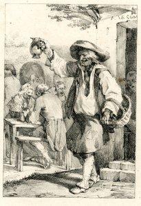 Le vin de la comet. Nicolas Toussaint Charlet. 1818-1819. [1]