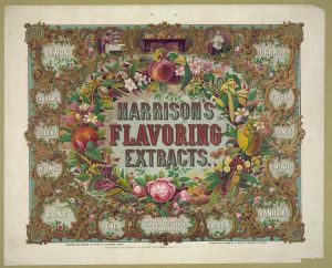 Harrison's flavoring extracts. Phila. c 1868. #2003680539. Library of Congress Prints and Photographs Division.