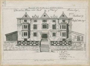 Claverton House near Bath ye Seat of Skrine esr 1738. Published 1811. King George III Topographical and Maritime collections. The British Library.