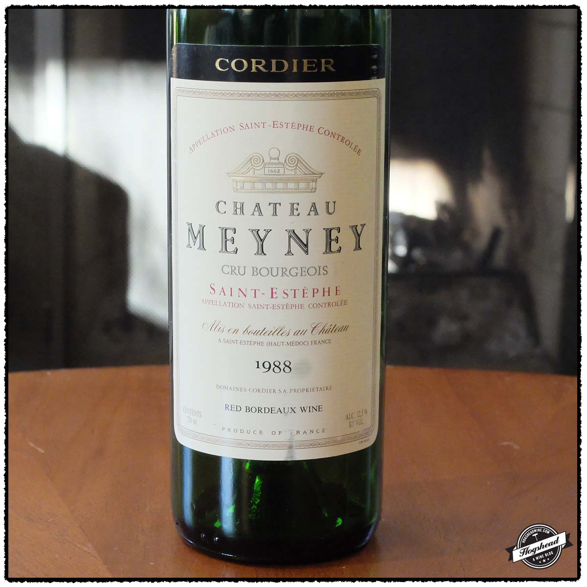 The savory 1988 chateau meyney hogshead a wine blog for Chateau meyney