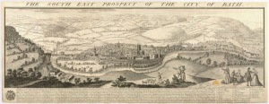 Prospect Of The City of Bath, Buck, 1734. The British Library. Shelfmark: Maps K Top 37.25c
