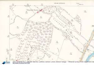 Vineyard Farm. Ordnance Survey Map. Somerset XIV.11 (includes: Bathford; Claverton; Monkton Combe; Monkton Farleigh; Winsley). Surveyed: 1883. Published: 1886. National Library of Scotland.